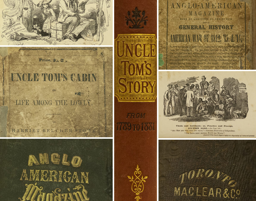 1852 Toronto edition of Uncle Tom's Cabin