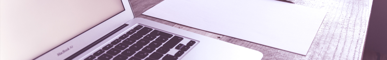 Laptop and paper image banner